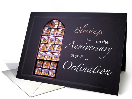Blessings, Anniversary of Ordination, Stained Glass card (645299)