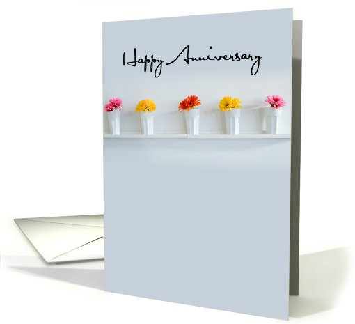 Happy Anniversary, Flowers, contemporary card (695151)