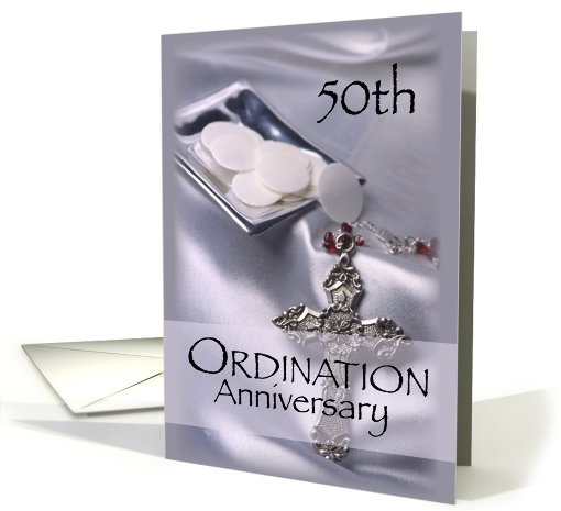 50th Ordination Anniversary Cross, Host card (809305)