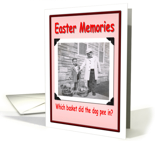 Easter Memories - Funny card (356143)
