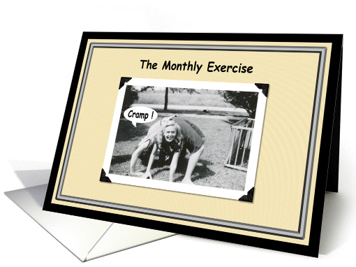 The Monthly Exercise card (389918)