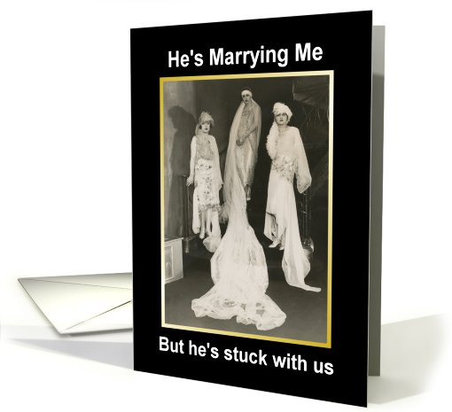 Sister Maid of Honor - Stuck with Us - Vintage card (513041)