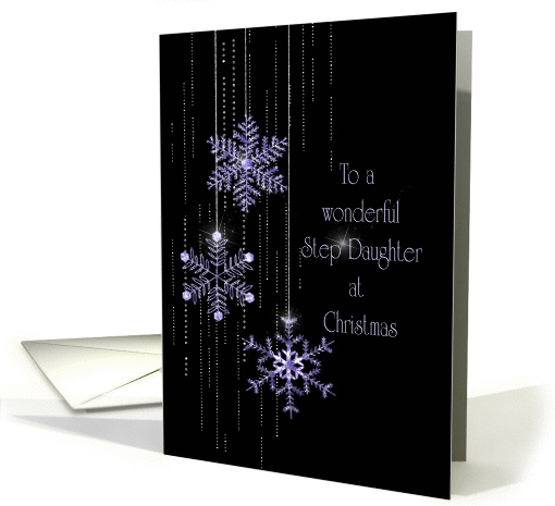 Christmas jeweled snowflakes for Step Daughter card (925246)