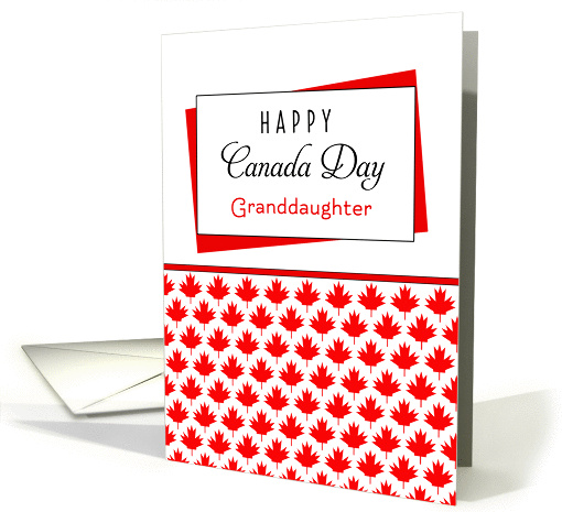 For Granddaughter Canada Day Greeting Card - Maple Leaf... (1094986)