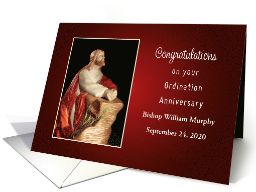 Ordination Anniversary Card-Customizable Name & Date card (1153098)