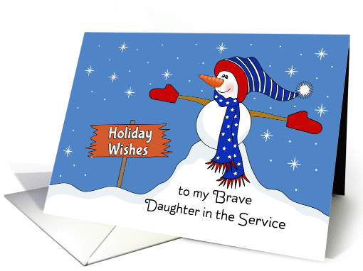 For My Daughter in the Service Christmas Card-Patriotic... (1172696)