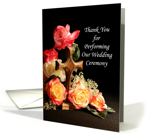 For Officiant Thank You for Performing Our Wedding Ceremony card