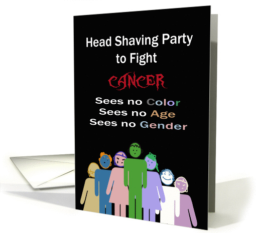 Head Shaving Party to Fight Cancer, Sees No Color, Age, or Gender card