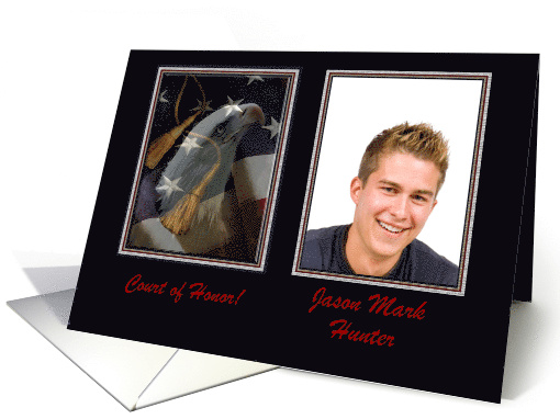 Eagle Scout Photo Card and Add Text, Eagle & Tassels card (931210)