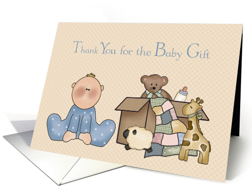 Baby Boy and Toys, Thank you for the Baby Gift card (1188504)