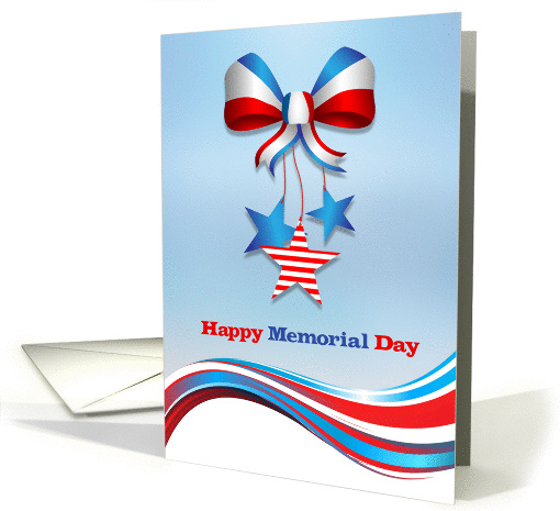Patriotic Bow and Stars, Memorial Day card (1354662)