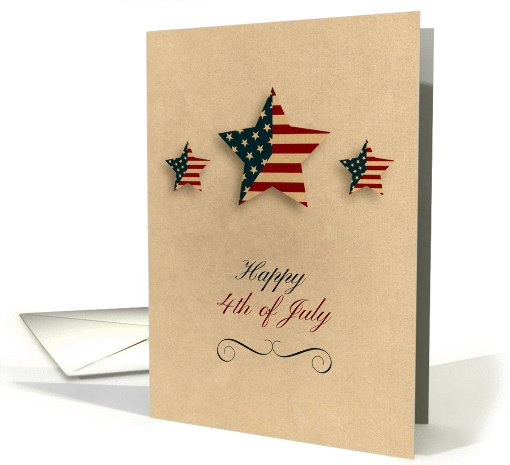 Fourth of July, Patriotic Stars card (1379256)