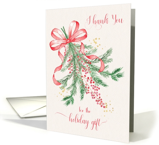 Thank You for Holiday Gift Seasonal Floral card (1458470)