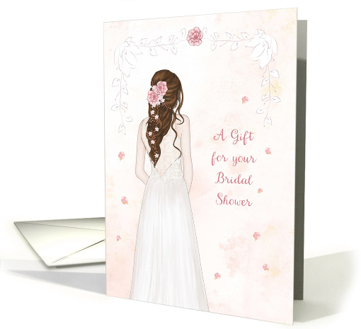 A Gift for Bridal Shower with Elegant Bride card (1596696)