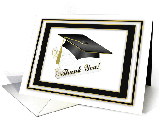 Graduation Gift Thank You card (630177)