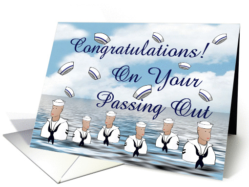 Congratulations Navy Passing Out Parade card (917424)