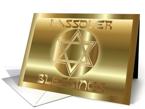 Pesach Passover Greetings Shalom Jewish Hebrew Star Of David  card