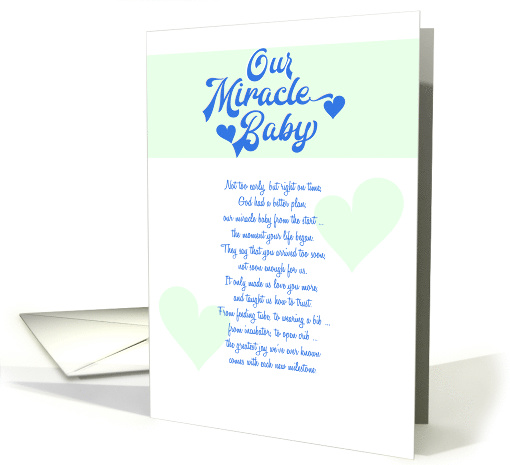 Our Miracle Baby - Preemie Milestone card (1469170)