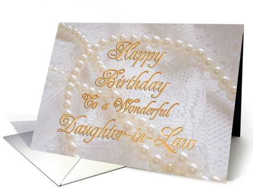 Pearls and Lace card (244695)