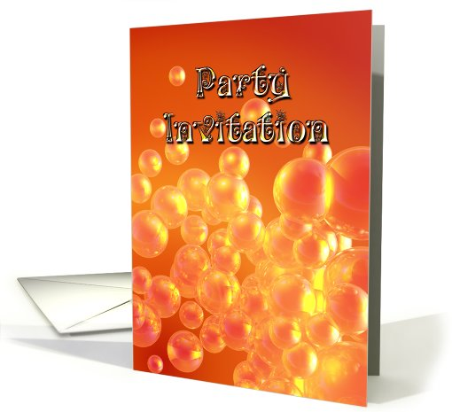A Party Invitation with bubbles card (523241)