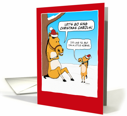 Funny Little Horse for Christmas card (1291220)