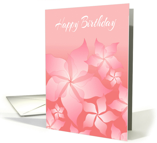 Happy Birthday Card With Floral Abstract Design card (1064111)