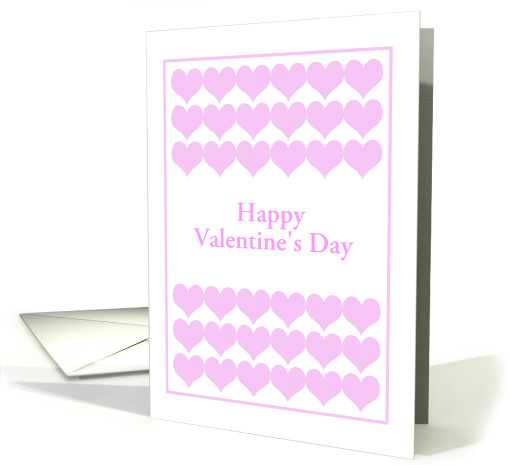 Pink Hearts For Your Valentine-Custom card (1421450)