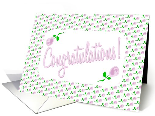 Congratulations-Delicate Pink Roses card (600804)