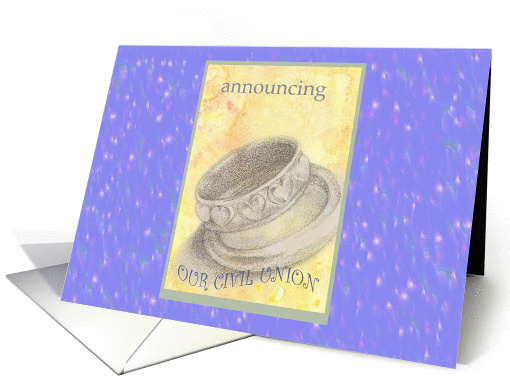 Civil Union Announcement Wedding Rings Illustration  card (855739)