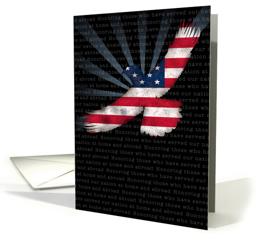 Veterans Day Honoring Those Who Have Served at Home and Abroad card