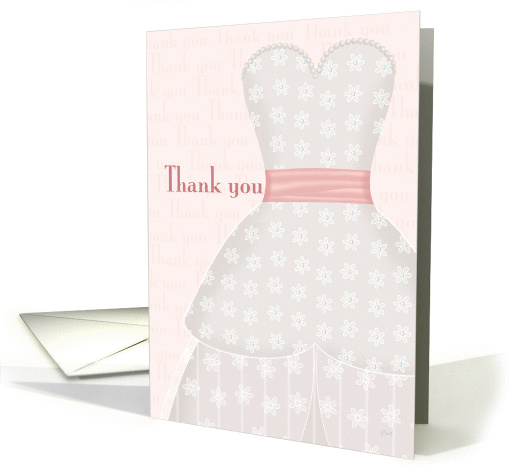 Lace Shadow Thank You Bridesmaid card (315196)