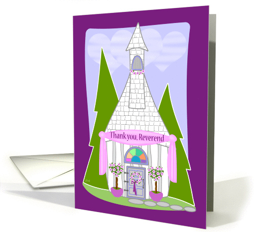 Thank You Reverend Wedding card (344382)