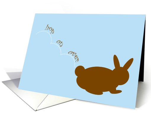 Easter Brunch Invitation Chocolate Bunny Hop on Over card (377197)