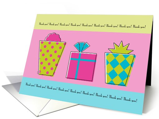 Thank You Birthday Gift Whimsical Packages card (529854)