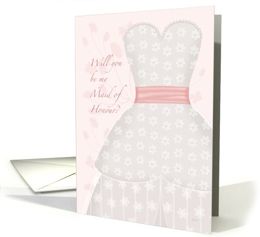 Be My Maid of Honour Lace Shadow card (602243)