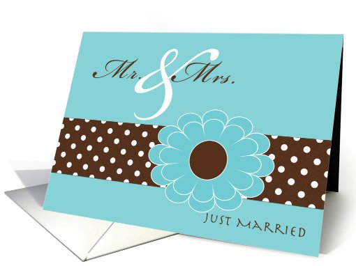 Marriage Wedding Announcements Pool and Espresso Colors card (627258)