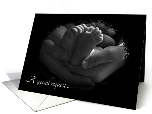 Baby Please be My Godparents Request card (297539)