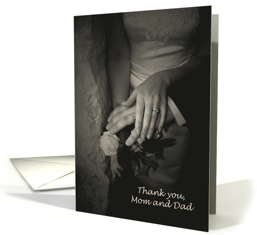 Thank you Mom and Dad Wedding card (365384)