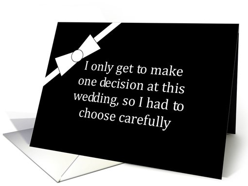 Humorous Groomsman Request Invitation card (458075)