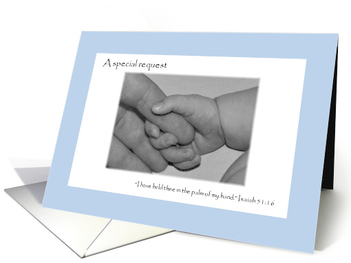 Scripture Boy Will You Be My Godparents Invitation card (843708)