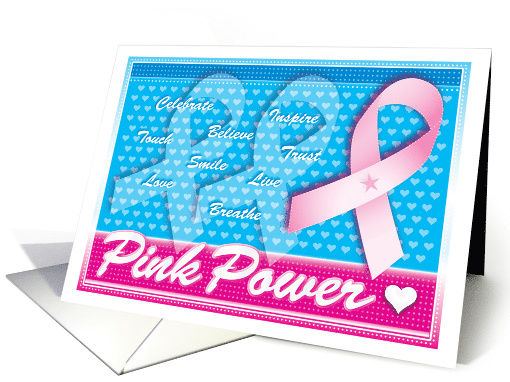 Pink Ribbon Breast Cancer Awareness Inspirational card (699148)