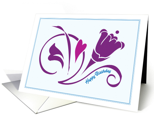 Love Blossoms - Happy Birthday for Him card (229753)