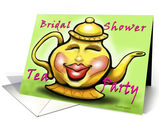 Bridal Shower Tea Party card (517807)