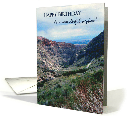 Birthday for Nephew, Big Horn Mountains and Sky card (792045)