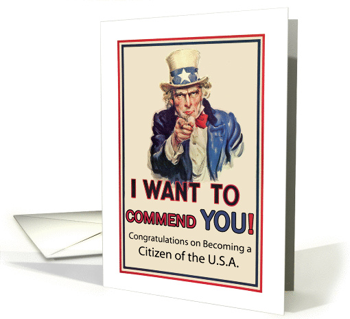 Congratulations on U.S.A. Citizenship, Uncle Sam, American... (837301)