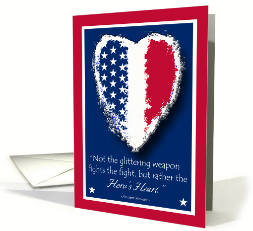 Support Our Troops, Patriotic Hero Quote for Memorial Day card