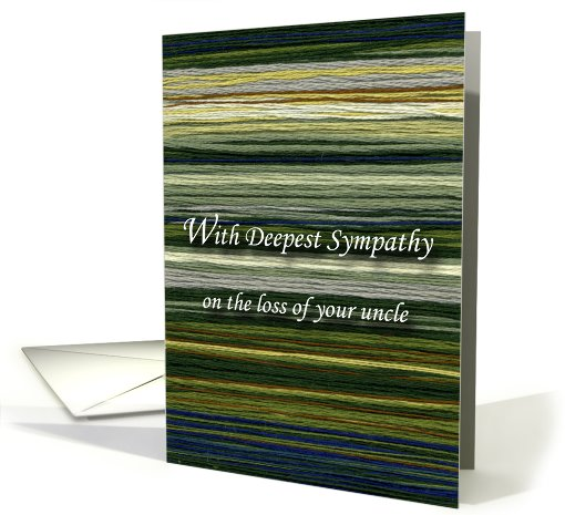 Loss of Uncle, Words of Sympathy card (681210)