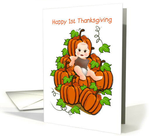 happy 1st thanksgiving, baby card (873283)