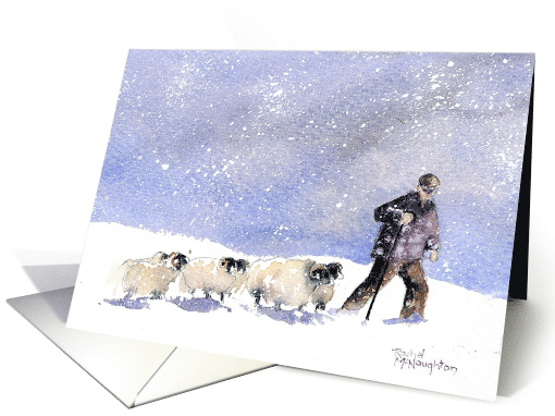 Winter Shepherd Blank Any Occasion card (1505642)