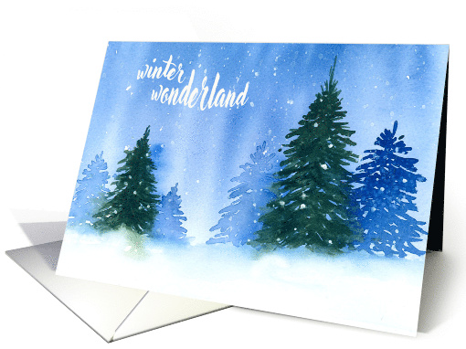 Christmas Trees in the Snow card (1545778)